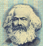 Karl Marx. (1818-1883) on 100 Mark 1975 Banknote from East Germany. German philosopher, political economist, historian, political theorist, sociologist, and Stock Image