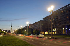 Karl-Marx-Allee Stock Photo