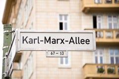 Karl-Marx-Allee Berlin Royalty Free Stock Photo