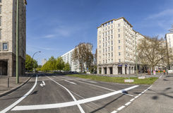 Karl-Marx-Allee, a monumental socialist boulevard of the former Stock Photography