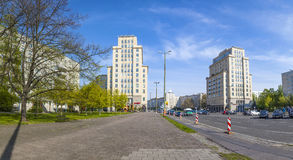 Karl-Marx-Allee, a monumental socialist boulevard of the former Royalty Free Stock Images