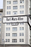 Karl Marx Allee Street Sign, Berlin Stock Photos