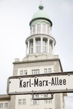 Karl Marx Allee Street Sign, Berlin Stock Image