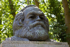 Karl Marx Bust In Highgate Cemetery Royalty Free Stock Images