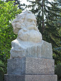 Karl Marx bust stone statue in Europe Stock Photo