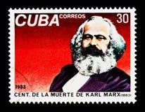 Karl Marx dödhundraårsdag, serie, circa 1983 Arkivfoto