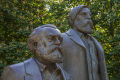 Karl Marx e Friedrich Engels Immagine Stock Libera da Diritti