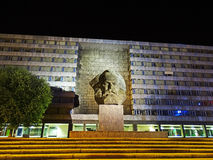 Karl Marx Monument a Chemnitz (Germania) Fotografia Stock Libera da Diritti