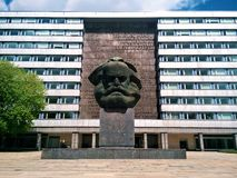 Karl Marx Monument in Chemnitz Stock Photos