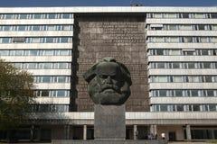 Karl Marx Monument in Chemnitz, Saxony, Germany. Royalty Free Stock Images