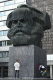 Karl Marx Monument in Chemnitz, Saxony, Germany. Stock Photography