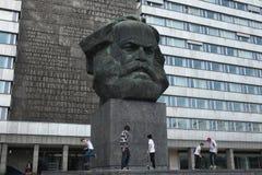 Karl Marx Monument in Chemnitz, Saxony, Germany. Stock Photos