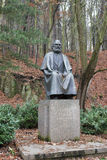 Karl Marx monument in Karlovy Vary stock photo