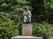 Karl Marx monument in the spa town of Karlsbad Stock Image