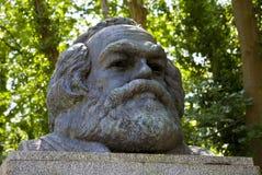 Karl Marx popiersie w Highgate cmentarzu obrazy royalty free