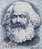 Karl Marx portret na wschodzie - niemiec 100 ocen 1975 banknot zamknięty Zdjęcia Stock