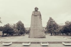 Karl Marx statue on Revolution square in Moscow Royalty Free Stock Photos
