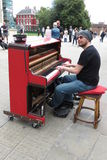 Karl Mullen street piano player Stock Photos