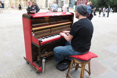 Karl Mullen street piano player Royalty Free Stock Photography