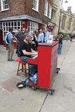 Karl Mullen street piano player Royalty Free Stock Photos