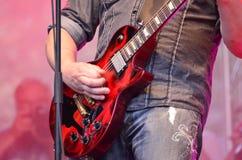 Karl Pontus Norgren. Power metal guitarist Karl Pontus Norgren He is the current guitarist of the Swedish power metal band HammerFall. The band was featured in royalty free stock photography