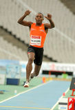 Karl Taillepierre of France. In action on Triple Jump Event of Barcelona Athletics meeting at the Olympic Stadium on July 22, 2011 in Barcelona, Spain Royalty Free Stock Photos