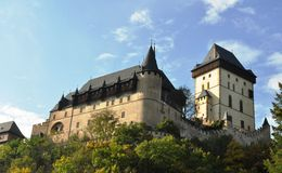 Karlštejn Castle Στοκ εικόνες με δικαίωμα ελεύθερης χρήσης