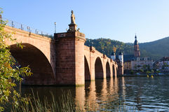 Karl Theodor Bridge in Heidelberg, Germany Stock Photos