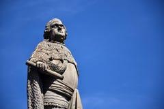 Karl Theodor statua na Starym moscie nad Neckar, Heidelberg, Niemcy zdjęcie stock
