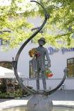 Karl Valentin Brunnen fontanna przy Viktualienmarkt w Monachium, Bav Obraz Royalty Free