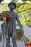 Karl Valentin Brunnen fontanna przy Viktualienmarkt w Monachium, Bav Zdjęcie Royalty Free
