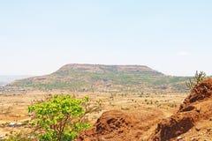 Karla grottor på berget Indien Arkivfoton