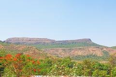 Karla grottor på berget Indien Fotografering för Bildbyråer