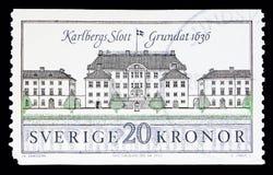Karlberg slott, slottDefinitives serie, circa 1992 Arkivbilder