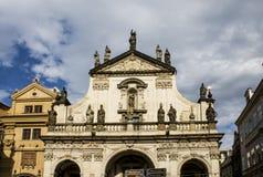 Karlov Bridżowy i Stary Praga widok Obrazy Stock
