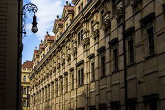 Karlov Bridżowy i Stary Praga widok Obraz Stock