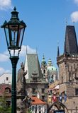 Karlov or charles bridge in Prague Royalty Free Stock Photos