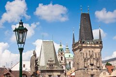 Karlov or charles bridge in Prague Stock Image