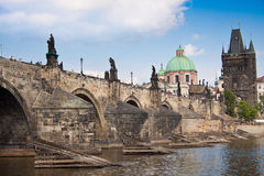 Karlov or charles bridge in Prague Royalty Free Stock Photography