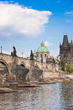 Karlov or charles bridge in Prague Stock Photo