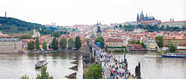 Karlov or Charles bridge in Prague Stock Images
