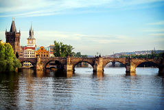Karlov het meest - Praag Royalty-vrije Stock Foto's