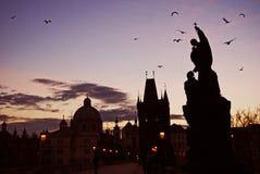 karlov Prague de passerelle Images stock