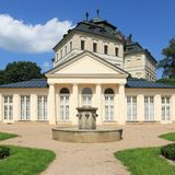 Karlova Koruna. Czech Republic landmark - architecture of Karlova Koruna castle in Chlumec Stock Photography