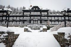 Mountain Spa Karlova Studanka, Czech republic royalty free stock photos