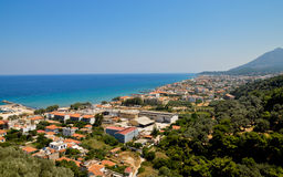 Karlovasi town panorama, Samos, Greece. Royalty Free Stock Photography
