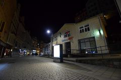 Karlove Vary. Night in Karlove Vary, Czech Republic royalty free stock images