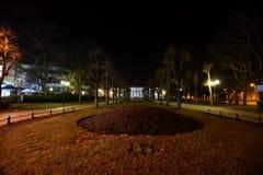 Karlove Vary. Night in Karlove Vary, Czech Republic stock photo