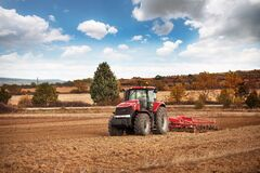 Free Karlovo, Bulgaria - Octomber 21, 2016: Case IH Puma 1260 Agricultural Tractor On Display. Case IH Wins Two Gold Medals At AGROTECH Royalty Free Stock Image - 201344626