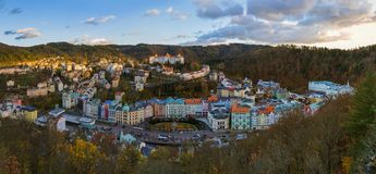 Karlovy меняет в чехии Стоковое Изображение